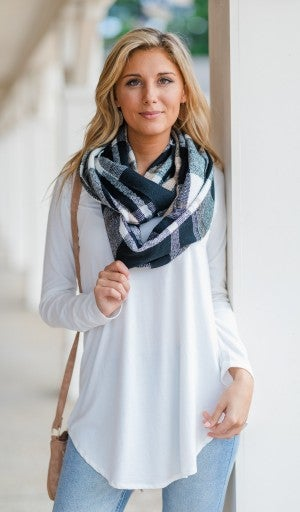 Full Circle Scarf, Black