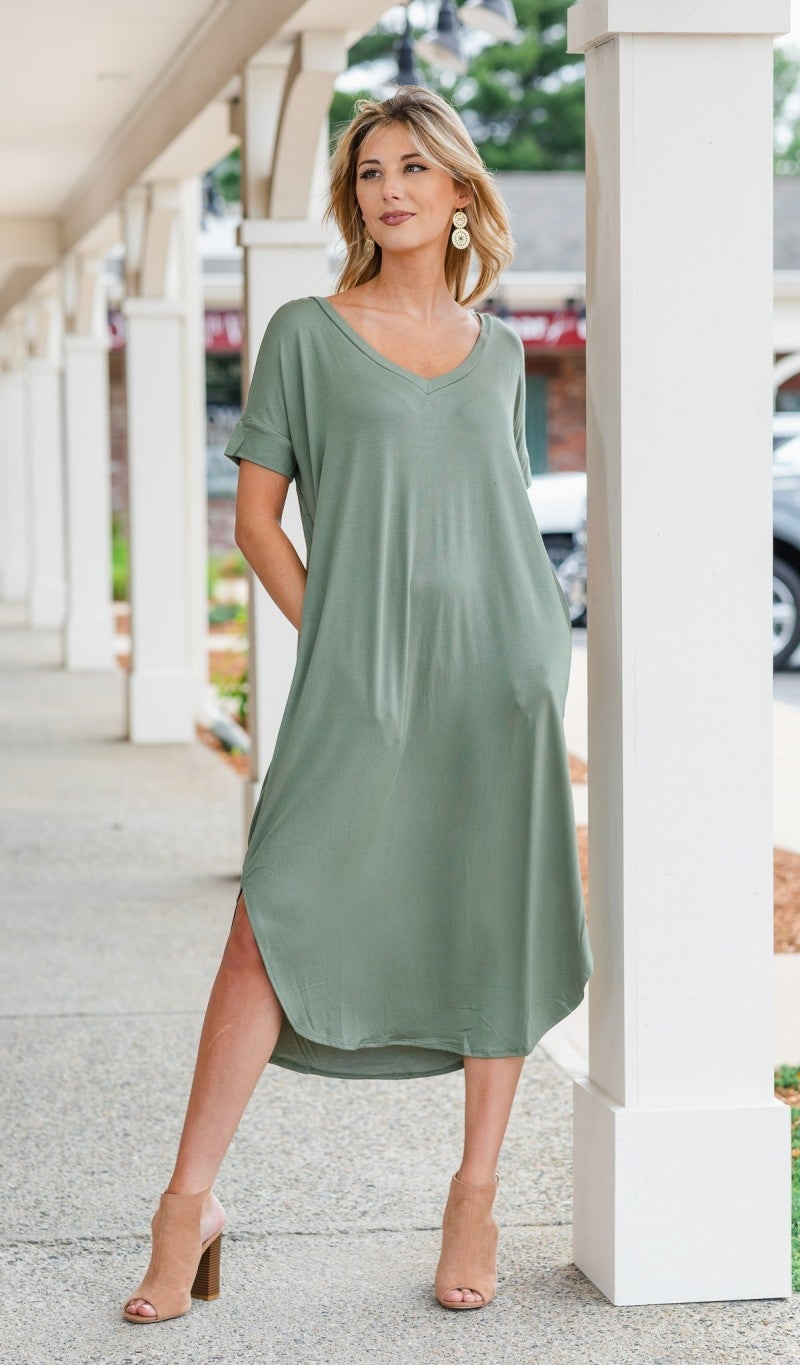 All You Need Dress, Light Olive