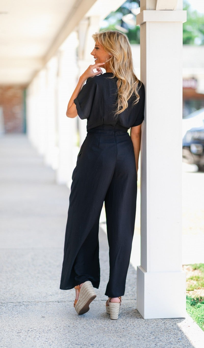 Oh-So-Chic Black Jumpsuit