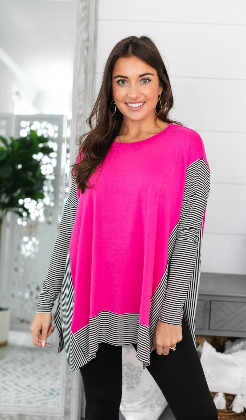 End Of The Week Top, Fuschia