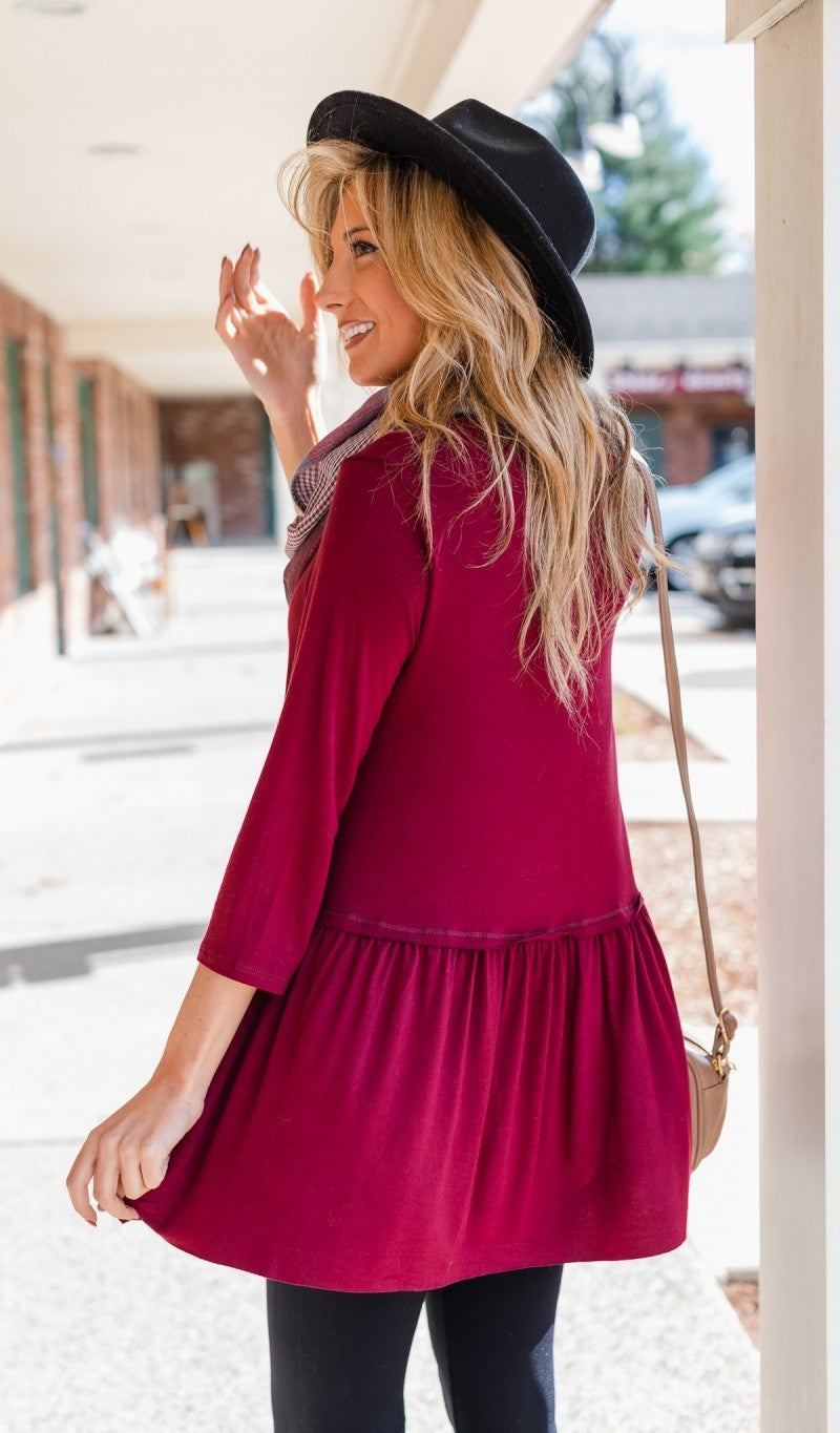 The Tatum Top, Burgundy *Final Sale*