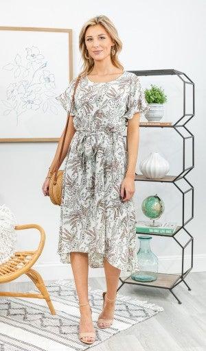 Parisian Days Dress, Micro Print