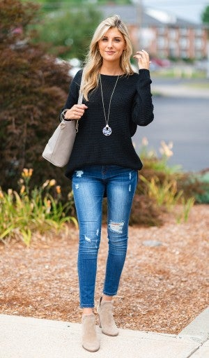 One Of A Kind Sweater, Black