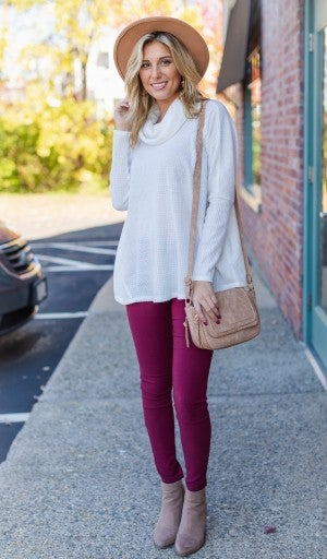 Fall Breeze Top, Ivory *Final Sale*