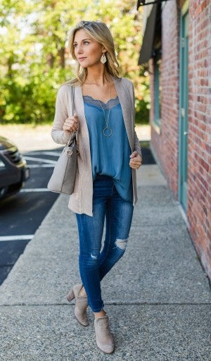 The Kassie Cardigan, Taupe