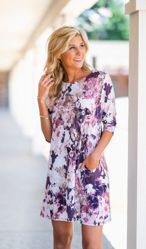 Floral Perspective Dress