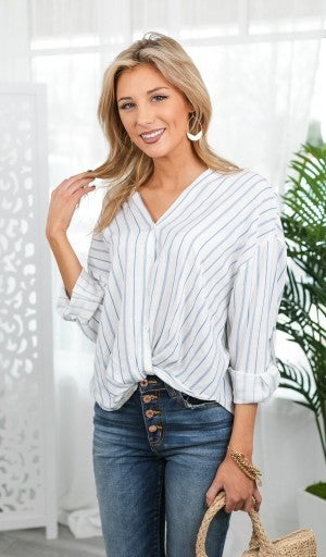 The Teagan Blouse, Ivory