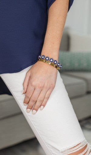 Classic Beauty Bracelet, Navy