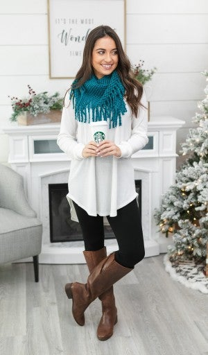 Staple Fringe infinity Scarves, Choose your color!