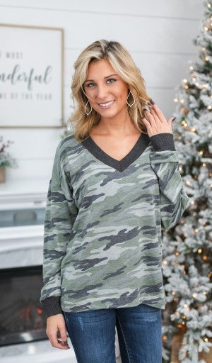 Black Friday EARLY RELEASE!!! On The Run Top, Camo