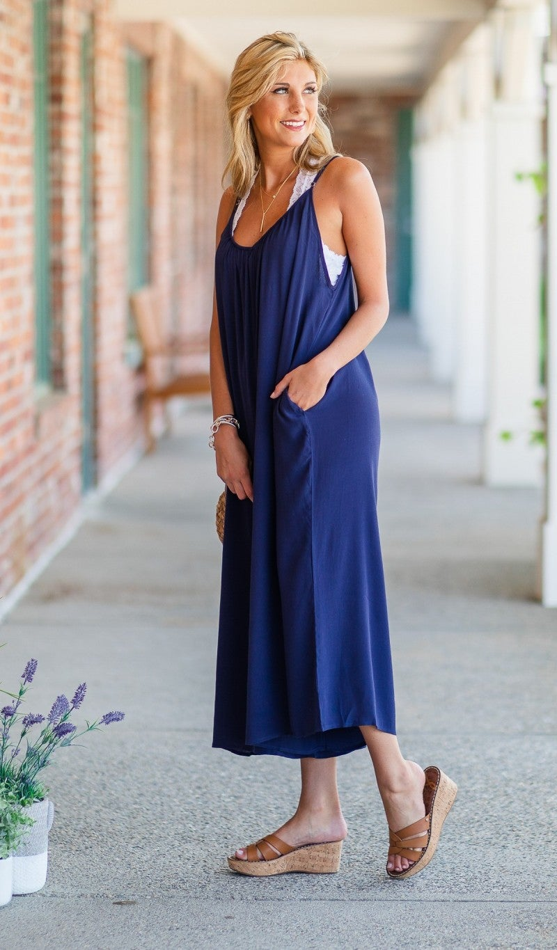 The Poolside Jumpsuit, Navy