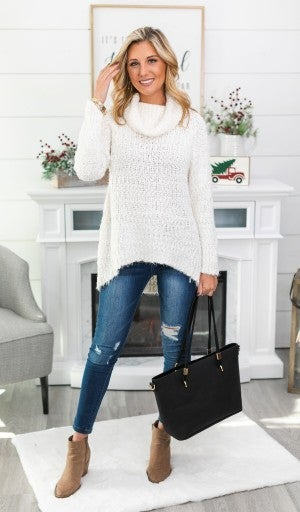 Winter Escape Sweater, Ivory