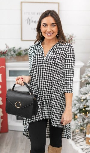 Before It's Gone Tunic, Houndstooth