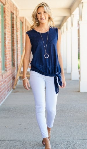 Go-to Layering Tank, Navy or White