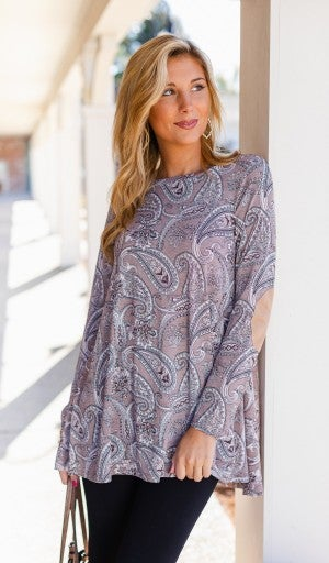 Can't Stop Me Now Tunic,  Paisley