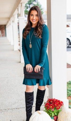 Slip Into This Dress, Huntergreen