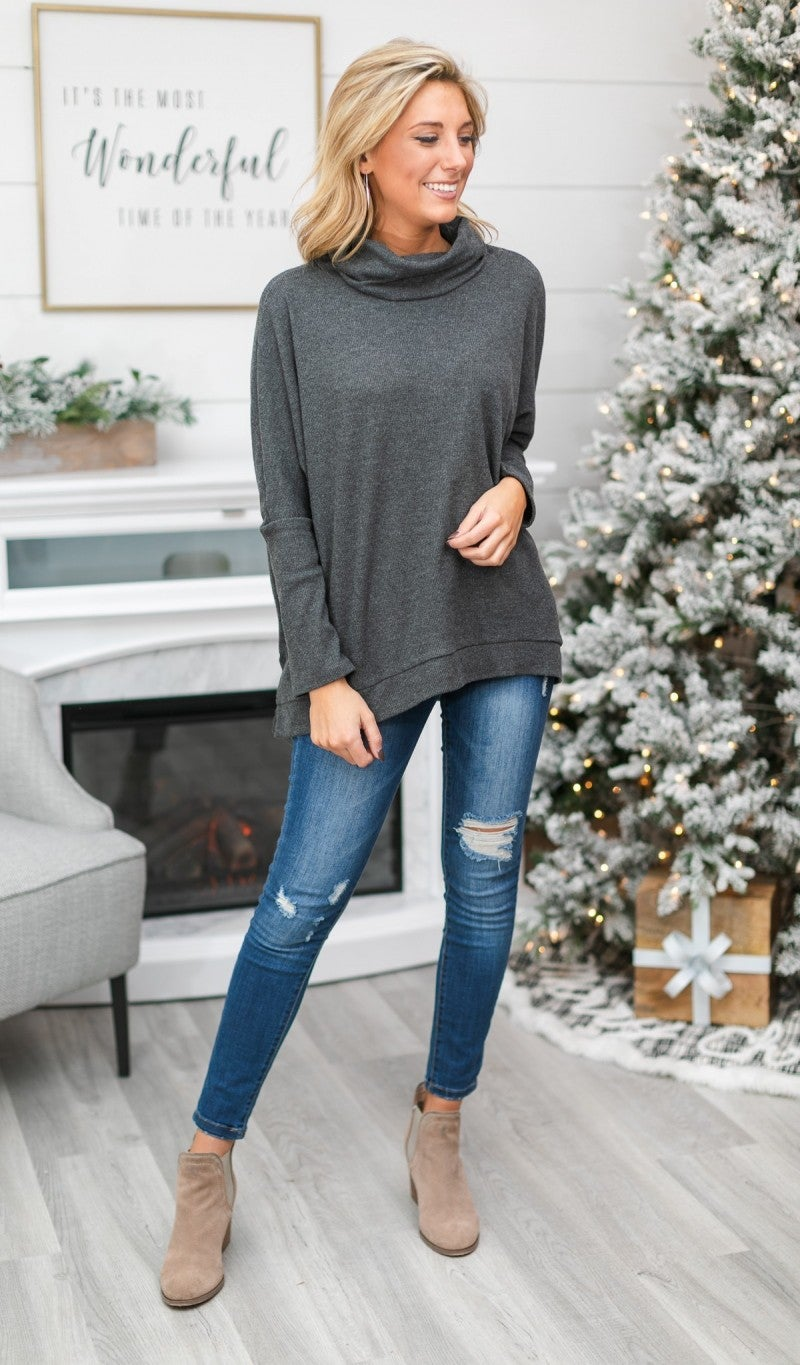 Welcome The Winter Tunic, Charcoal
