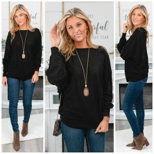 Made For You Sweater, Black