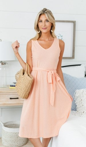 Cute And Classic Dress, Light Pink