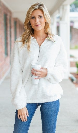 The Camille Pullover, Ivory