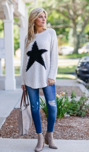Catch A Falling Star Sweater, Off White