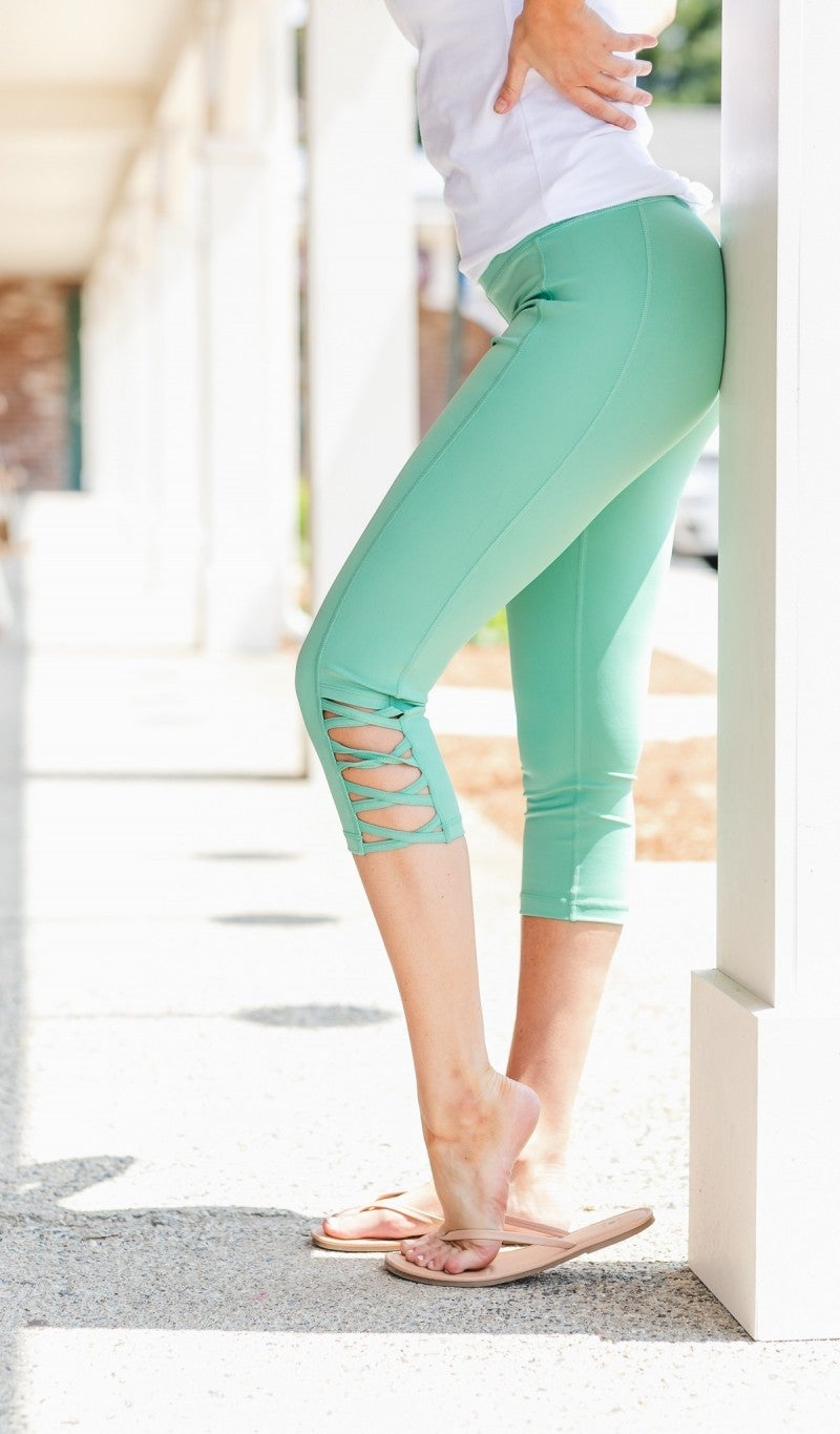 Active Days Leggings-Jade, Lavender, or Grey