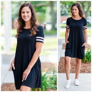 Ready, Set, Go! Dress, Black