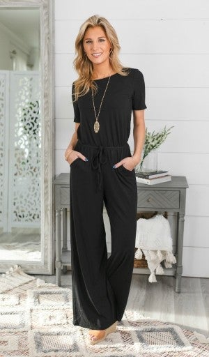 Day to Night Jumpsuit, Black *Final Sale*