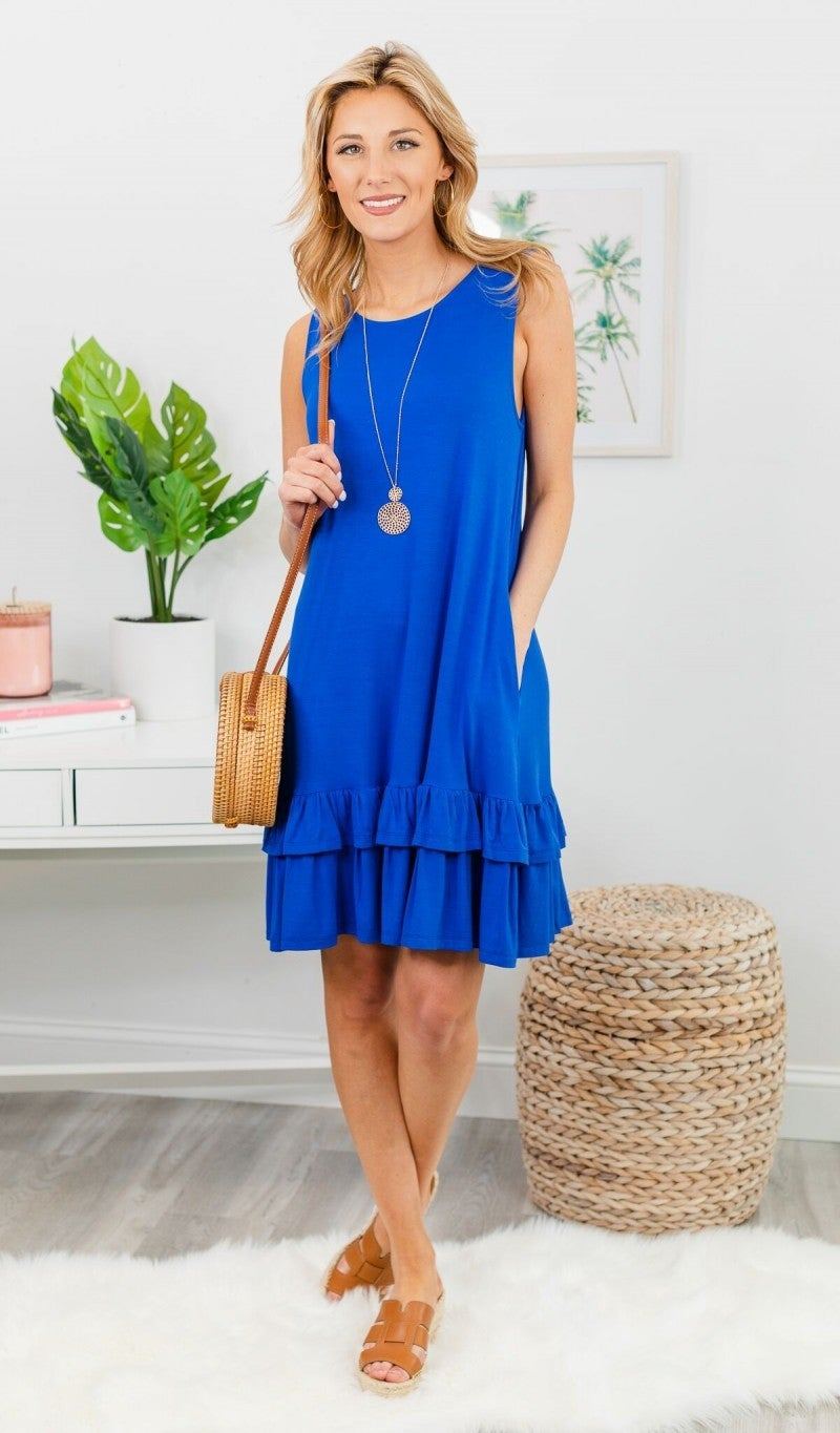 Calling Your Name Dress, Blue