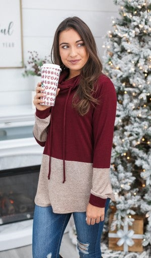 CYBER MONDAY DOORBUSTER!!!  All In One Top, Burgundy