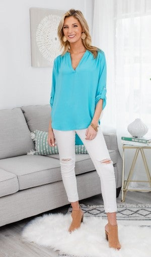 Best Impressions Blouse, Mint