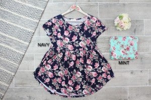 Floral Babydoll Knit Top