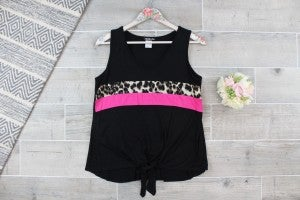 Cheetah Tank With Tie Detail