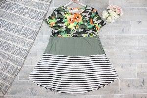 Jungle Color Block Dress
