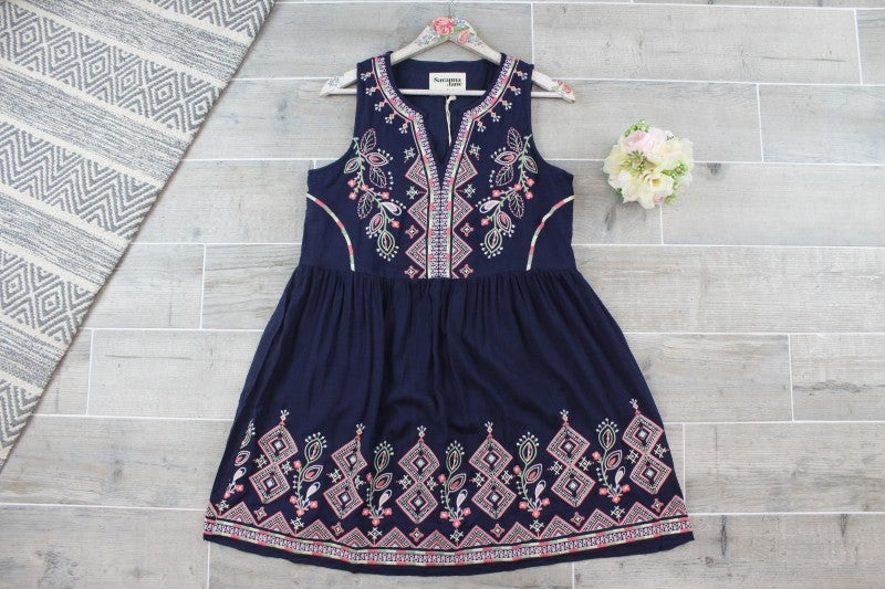 Beautifully Embroidered Babydoll Dress