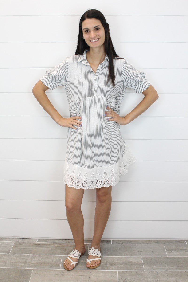 I've Got My Eye On You Eyelet Dress