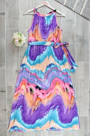 Magnificently Marbled Maxi Dress