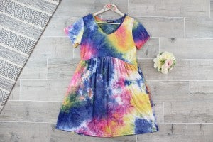 Keep Calm And Tie Dye On Mini Dress