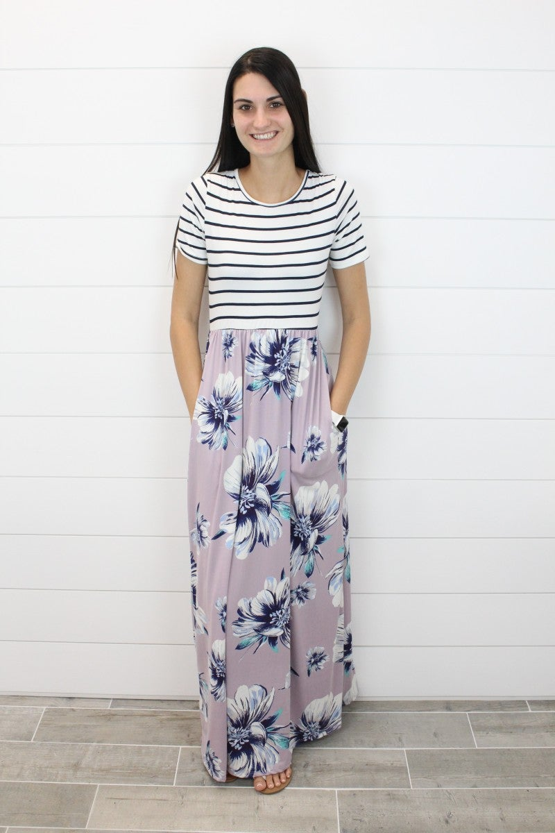Summertime Florals Maxi Dress