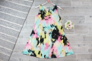 Wake Up And Go Bright Watercolor Dress