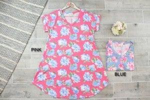 Floral V Neck Jersey Dress