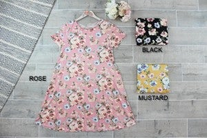 Adorable Floral Swing Dress with Pockets
