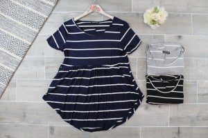 Staple Striped Babydoll Top