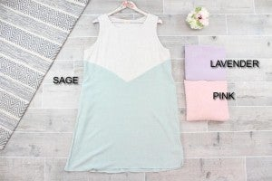 SImple Sleeveless Colorblock A-Line Dress