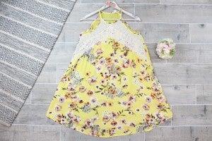 Crochet Trimmed Swing Dress