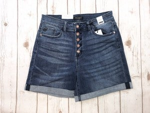 Judy Blue Button Fly Cuffed Shorts