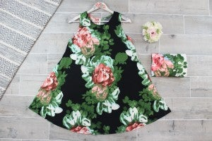 Bouquet Of Roses Swing Dress