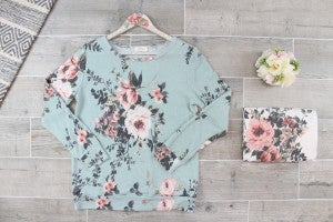 Lightweight Floral Sweater