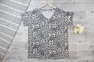 Cute Cheetah Top with Pocket