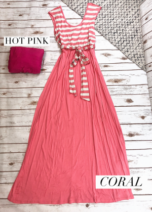 Striped Maxi with a Belt